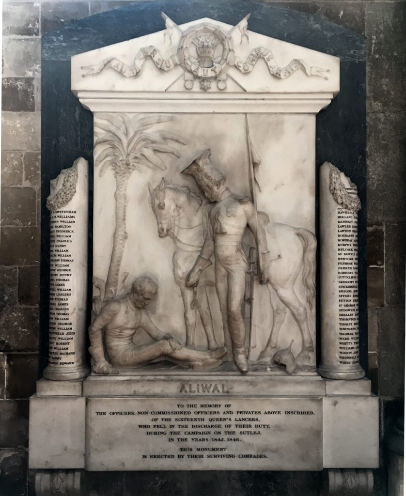Colonial memorial in Canterbury Cathedral