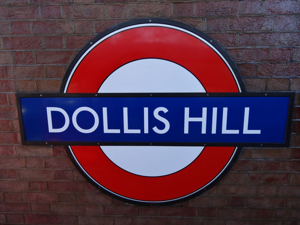 Dollis Hill Tube sign