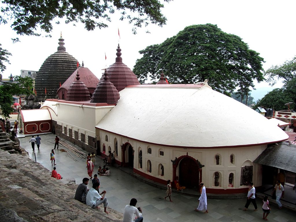 Kamakhya, one of the most important shakti peeth temples.