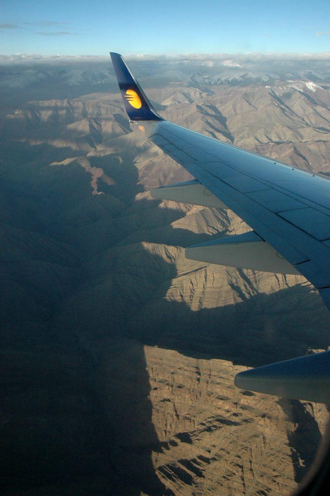 Flying into Leh in Ladakh
