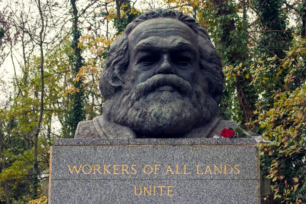 The grave of Karl Marx, complete with beard