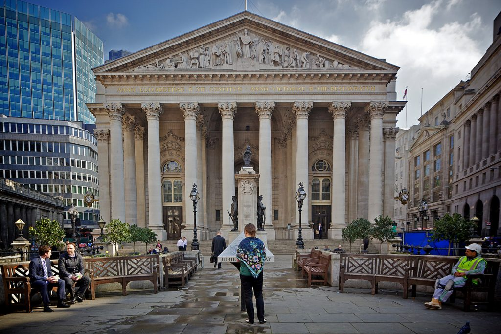 The Royal Exchange, one of many London locations in 20 Days Later