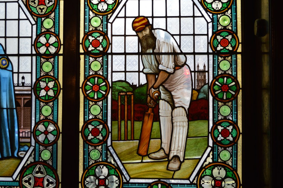 London cricket icon WG Grace, and his famous beard