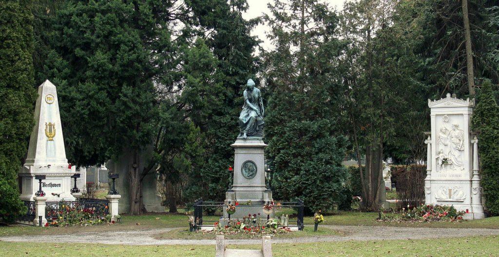 Memorials at Zentralfriedhof Cemetery