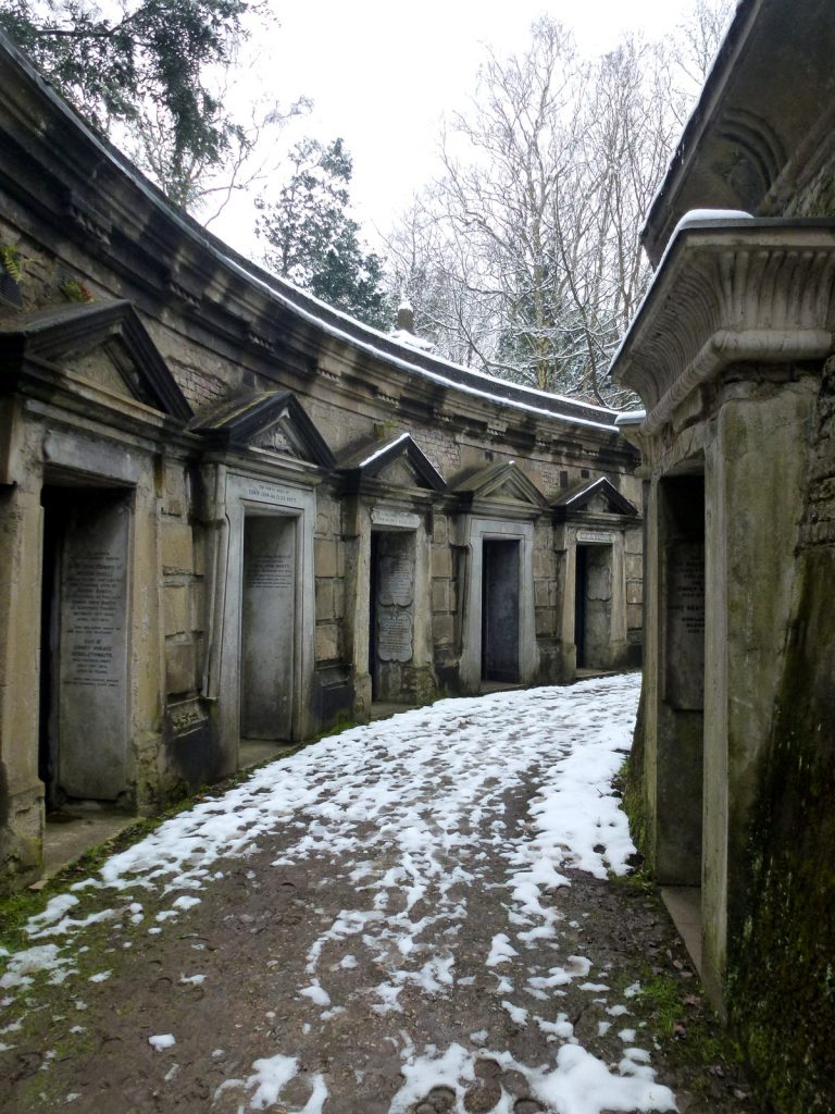 Victorian catacombs at Highgate Cemetery