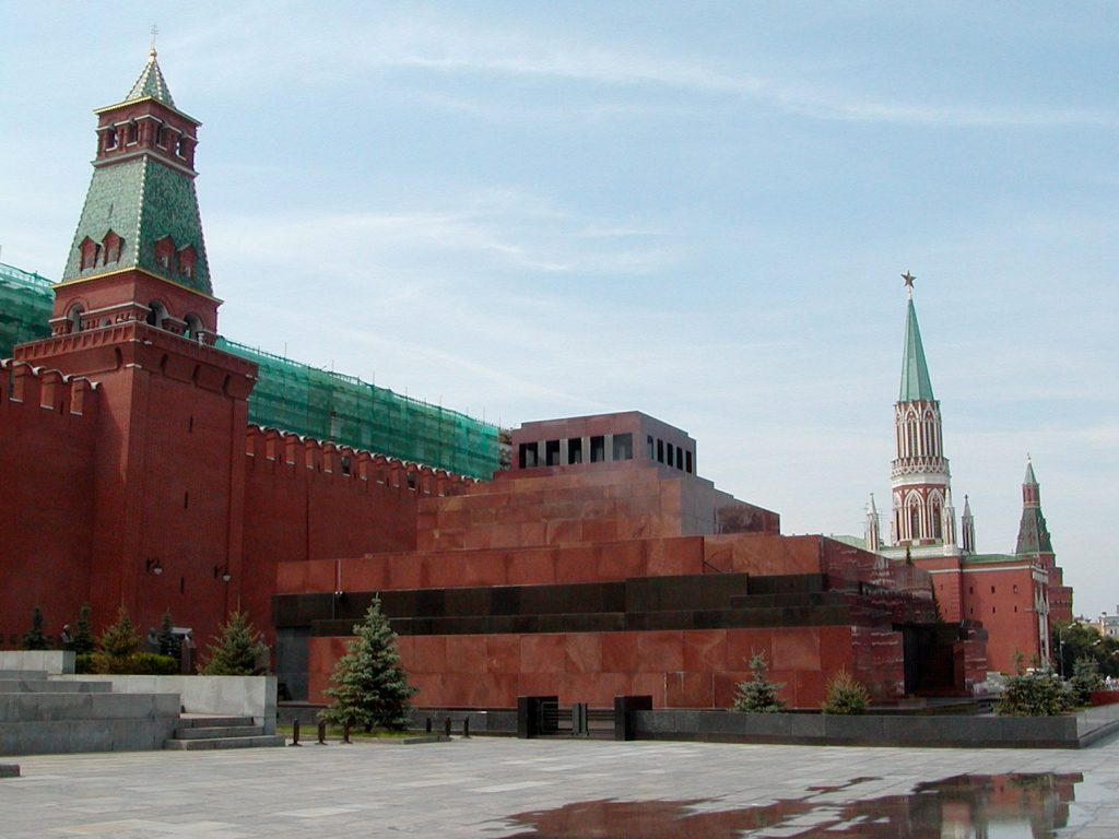 Lenin's mausoleum in Moscow