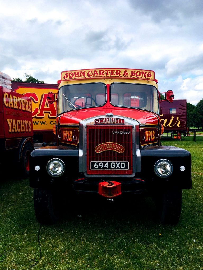 A Scammell fairground tractor.