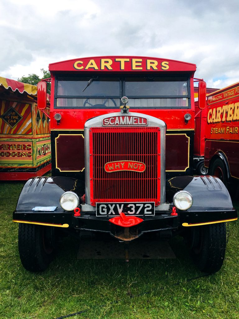 A beautiful vintage Scammell truck