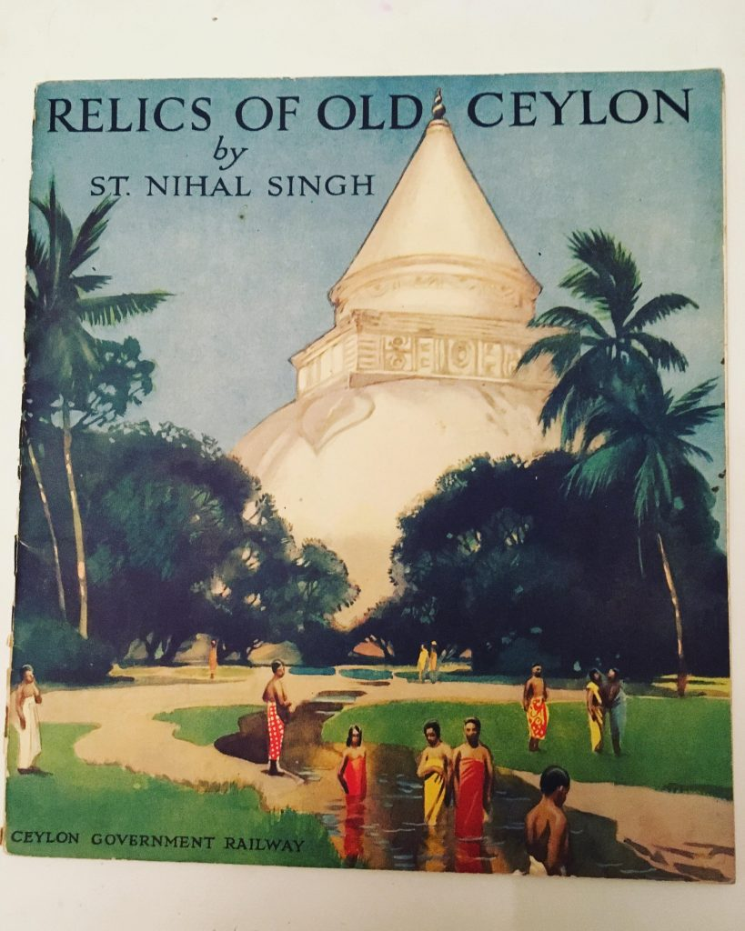 Tourist brochure on the ancient cities of Ceylon, 1928