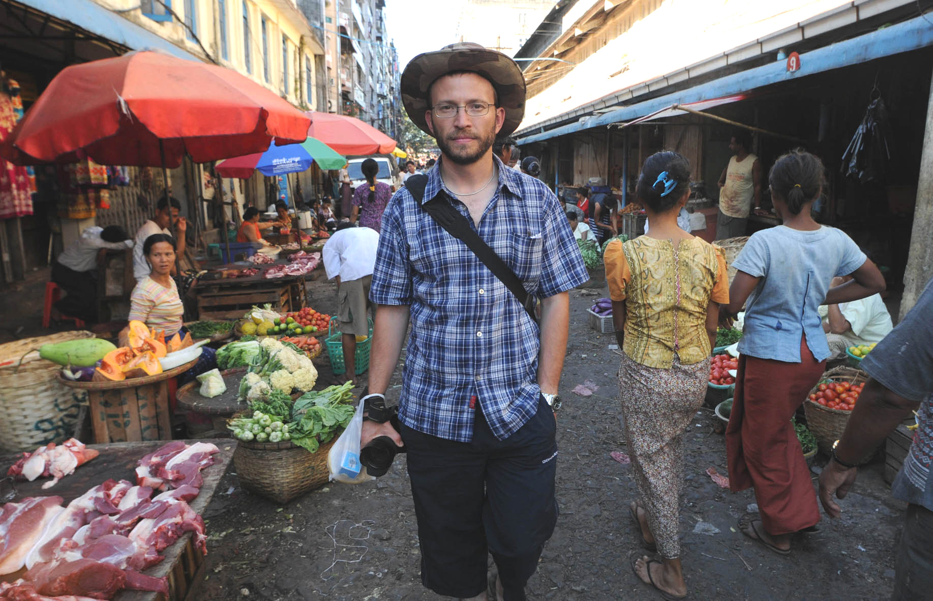 Joe in Yangon market